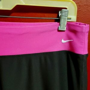 NIKE FIT DRY PINK AND BROWN PANTS SIZE L